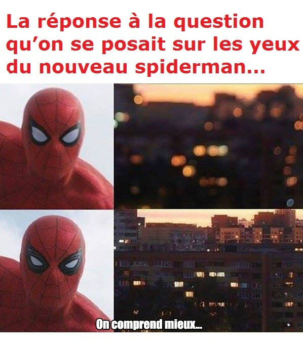 yeux spiderman