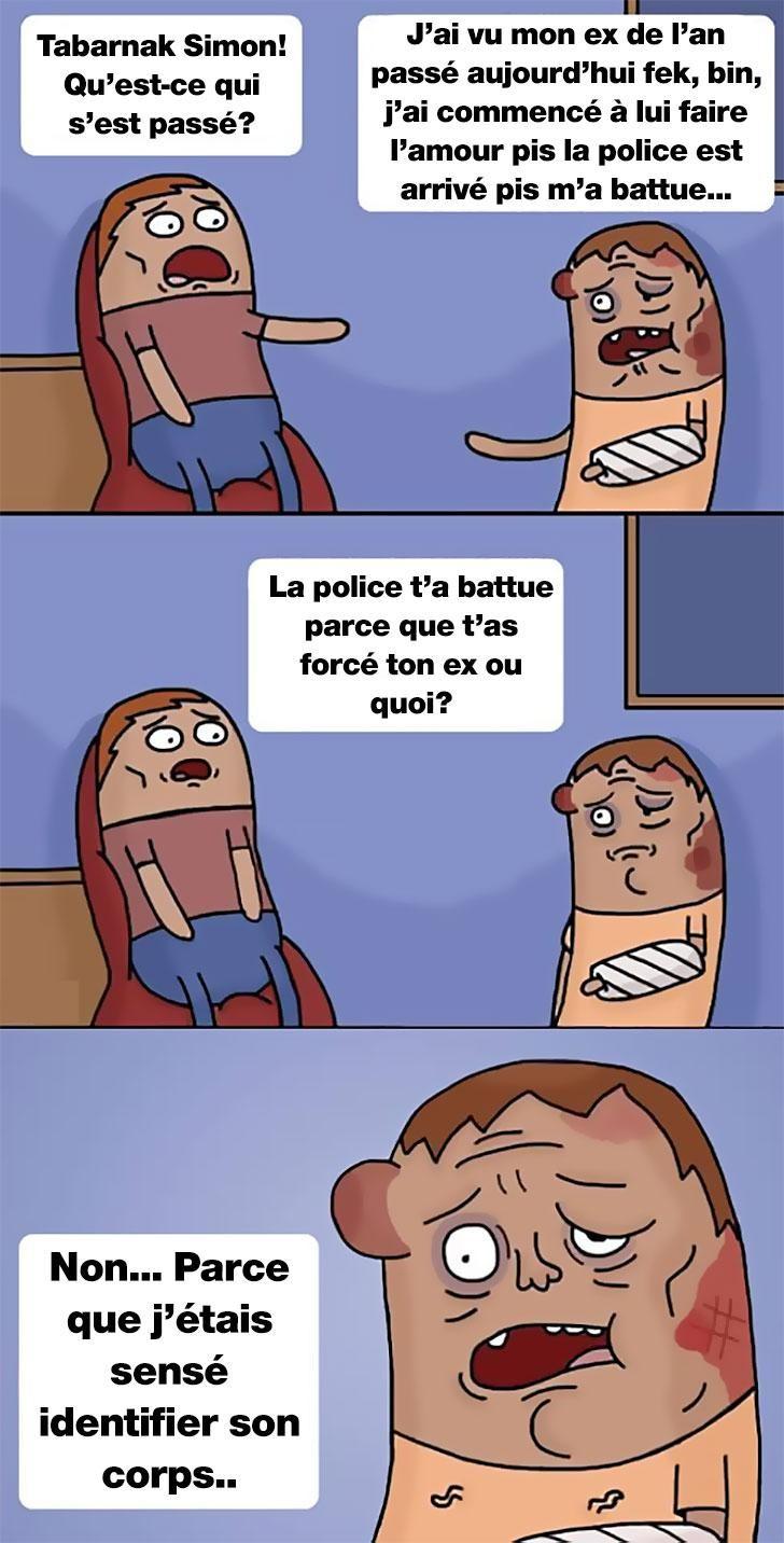 Extrem humour noir) J'ai vu mon ex et j'ai été battu par la police EZ35